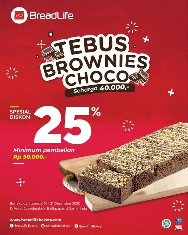 Diskon Breadlife Promo Tebus Brownies Choco Diskon 25%