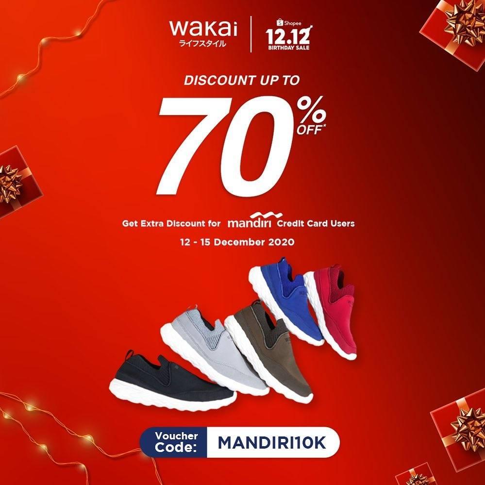 Diskon Wakai Promo 12.12 Discount Up To 70% Off