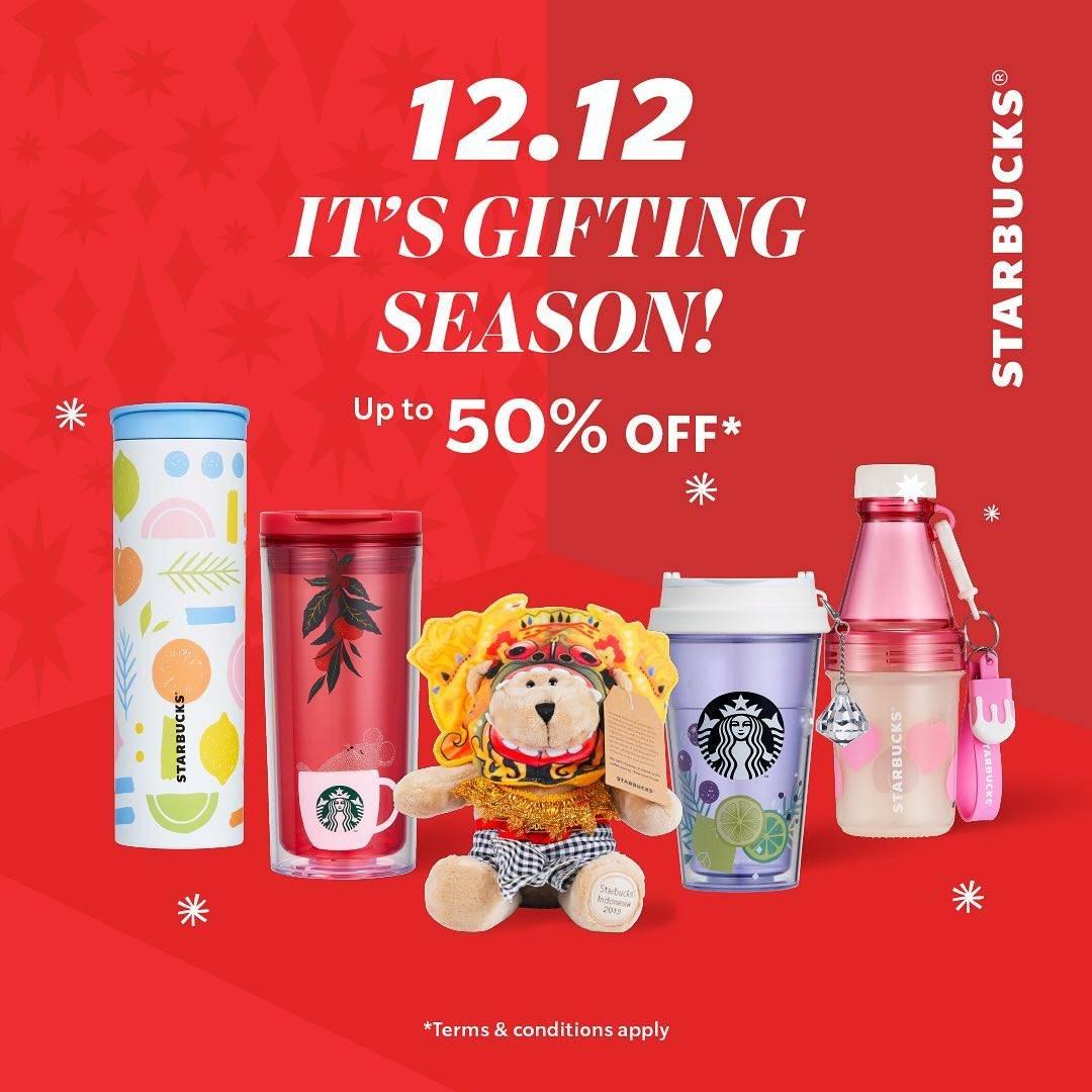 Diskon Starbucks Promo 12.12 It's Gifting Season Discount Up To 50% Off