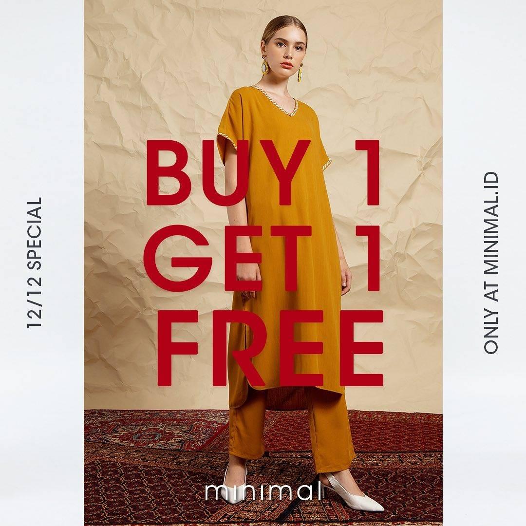 Diskon Minimal Promo Special 12.12  Buy 1 Get 1 Free