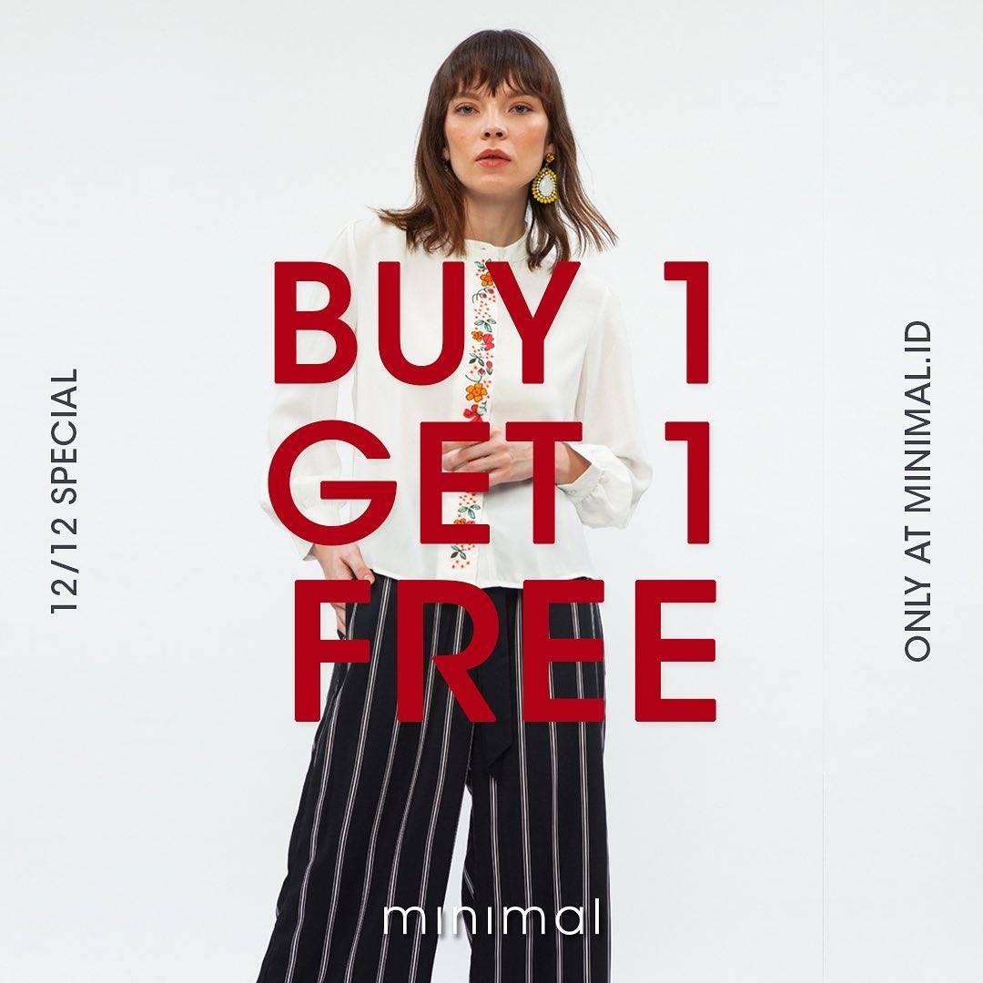 Promo diskon Minimal Promo Special 12.12  Buy 1 Get 1 Free