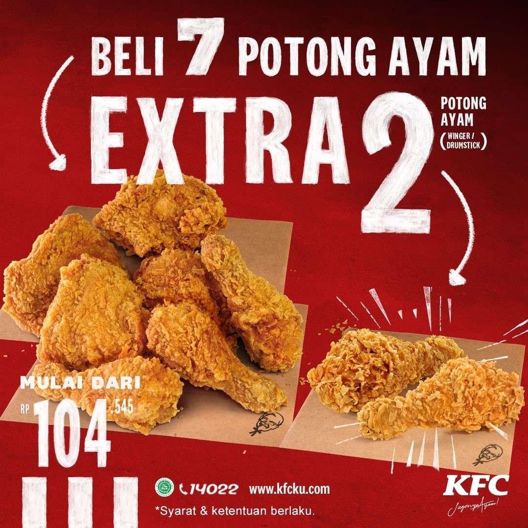 Diskon KFC Promo Beli 7 Potong Ayam Extra 2 Potong Ayam