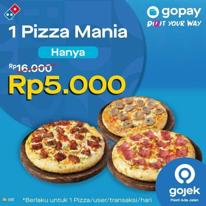 Diskon Domino's Pizza Promo Gopay - 1 Pizza Mania Hanya Rp. 5.000