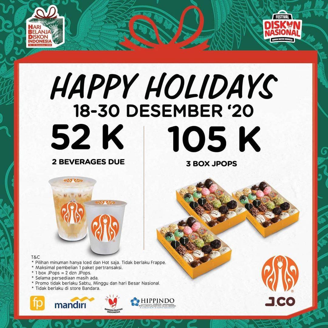 Diskon J.CO Promo Happy Holiday Hanya Rp. 52.000