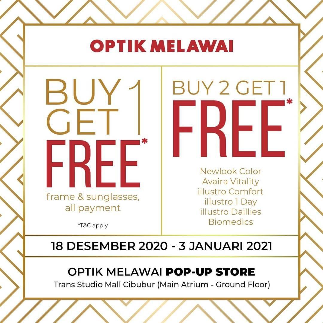 Diskon Optik Melawai Buy 1 Get 1 Free & Buy 2 Get 1 Free
