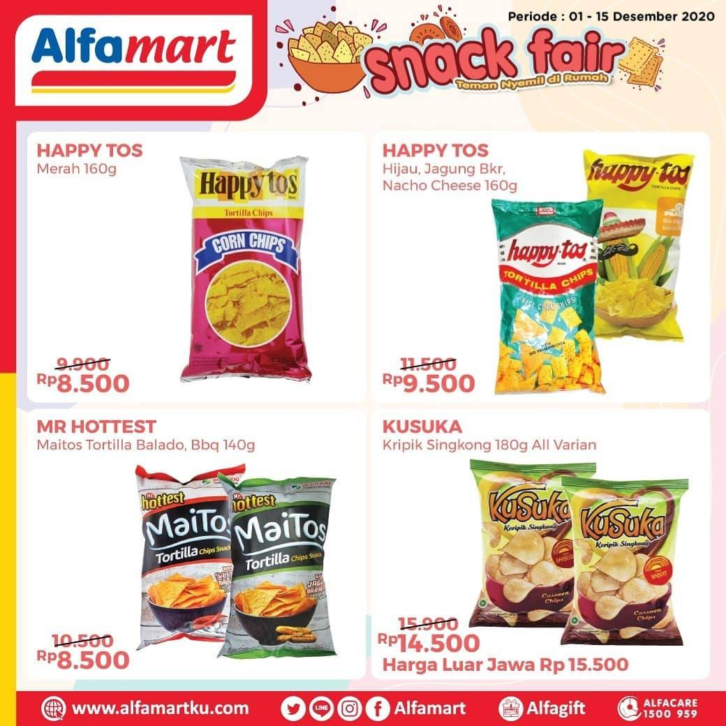 Diskon Katalog Promo Alfamart Snack Fair Periode 16 - 31 Desember 2020