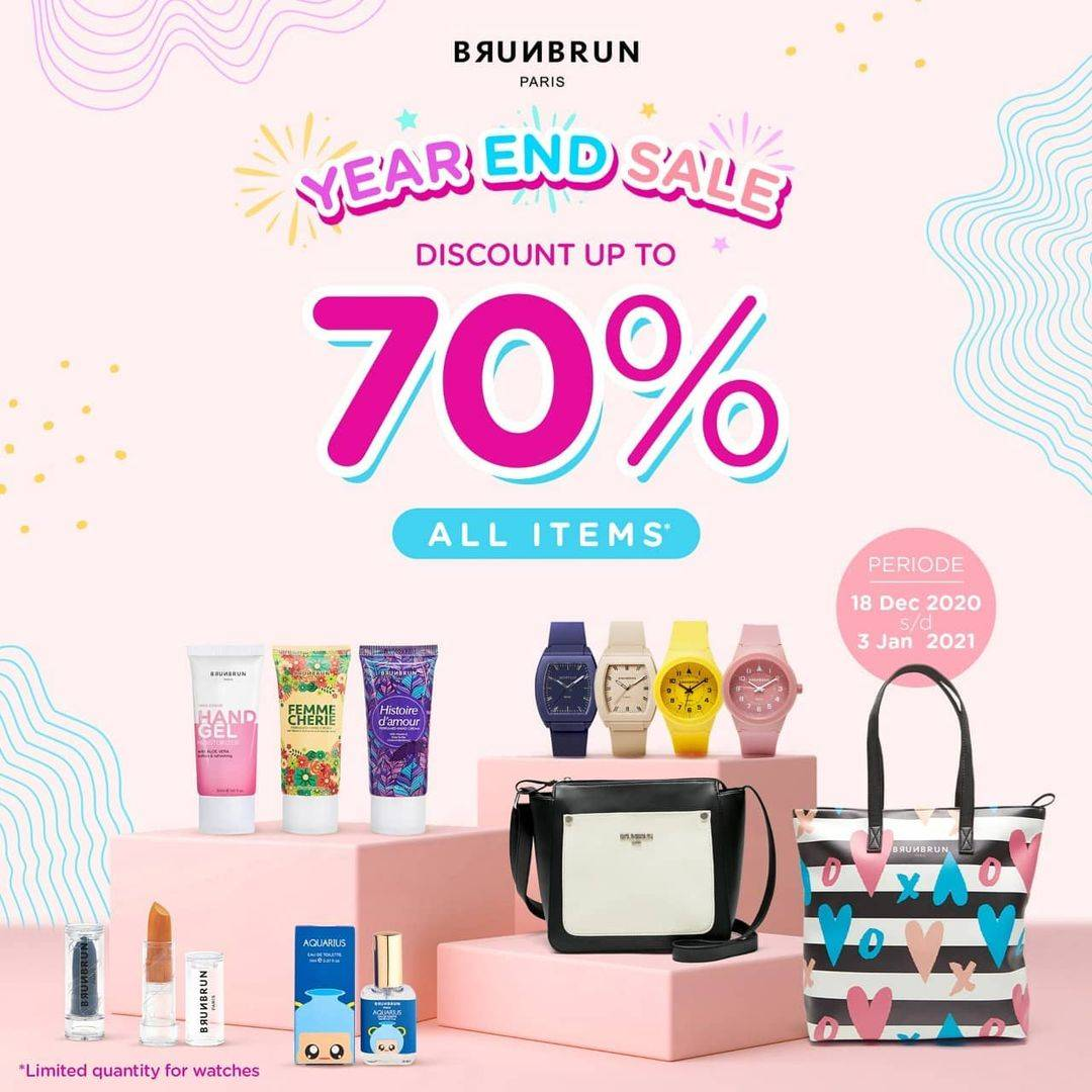 Diskon Brun Brun Year End Sale Discount Up To 70% Off On All Items