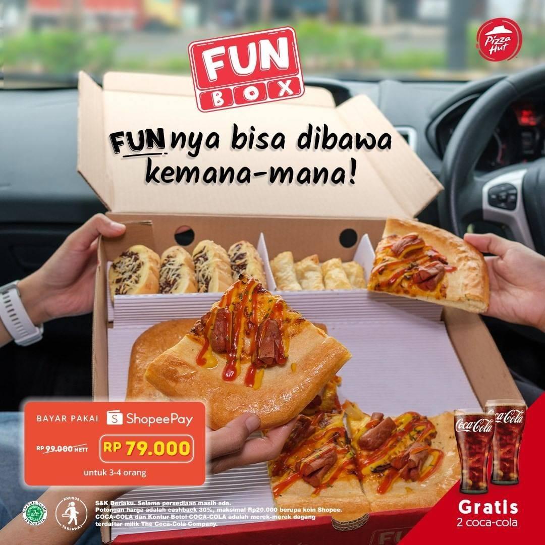 Diskon Pizza Hut Cashback 30% Untuk Pembelian Fun Box Menggunakan Shopeepay