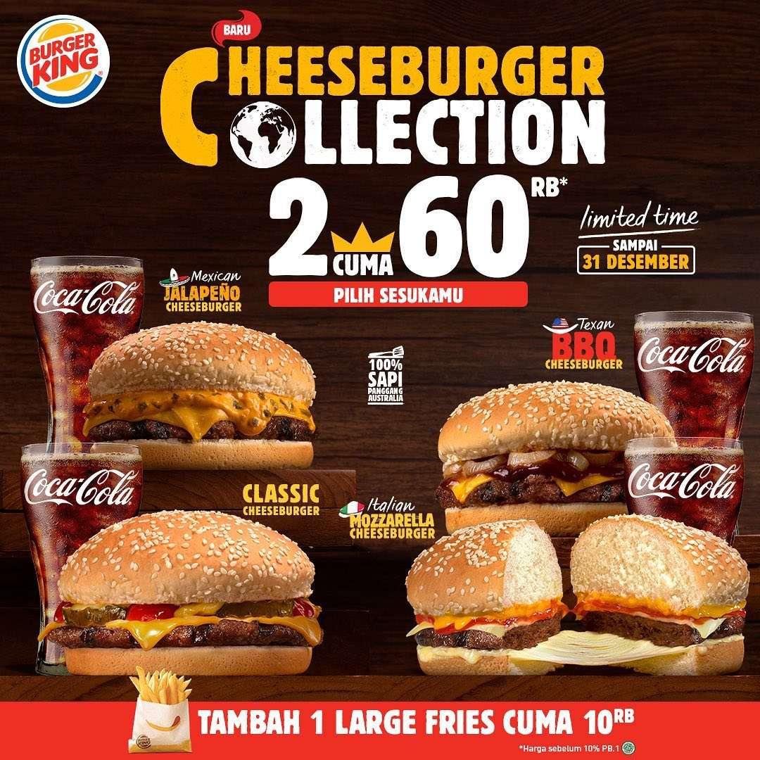 Diskon Burger King Promo Cheeseburger Collection