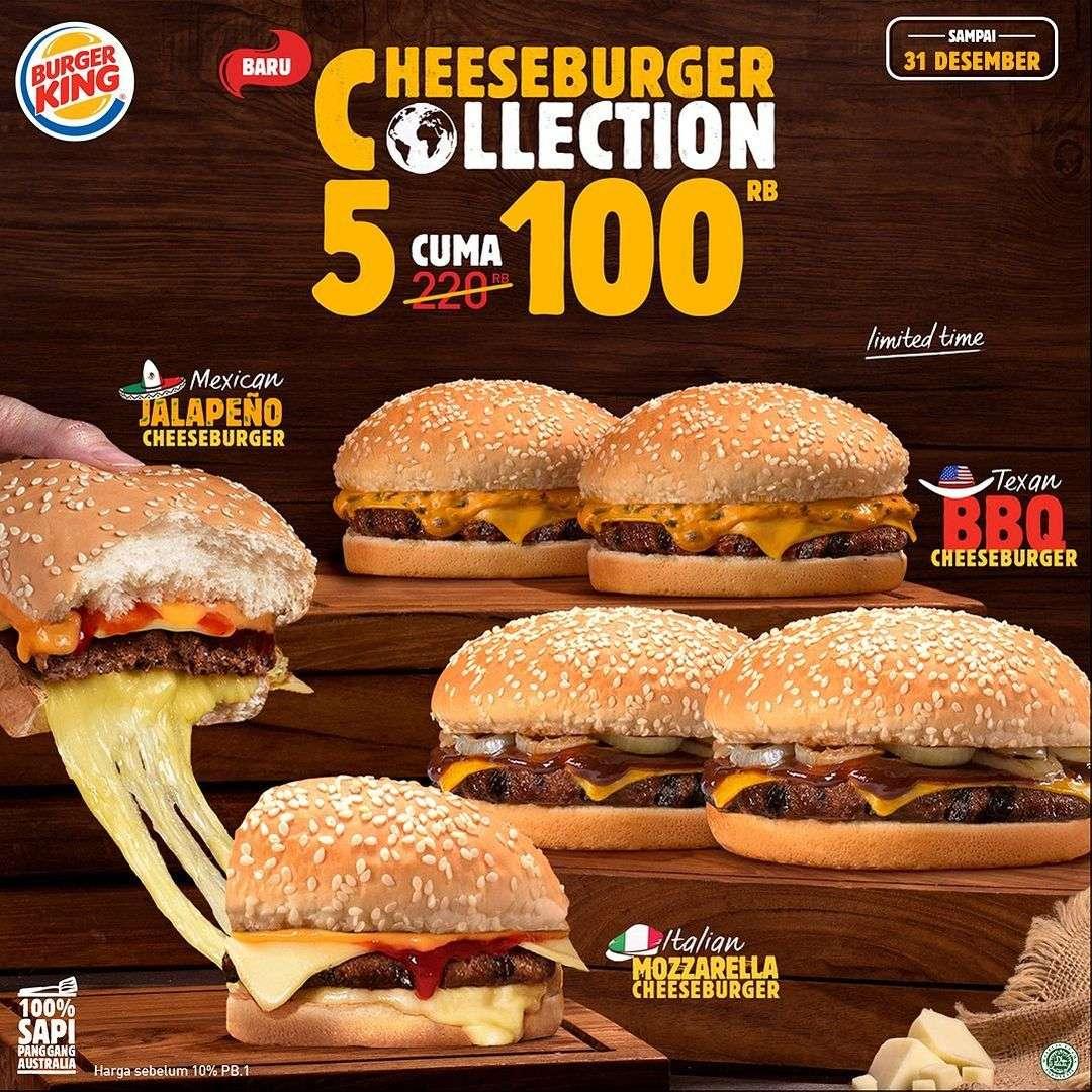 Promo diskon Burger King Promo Cheeseburger Collection