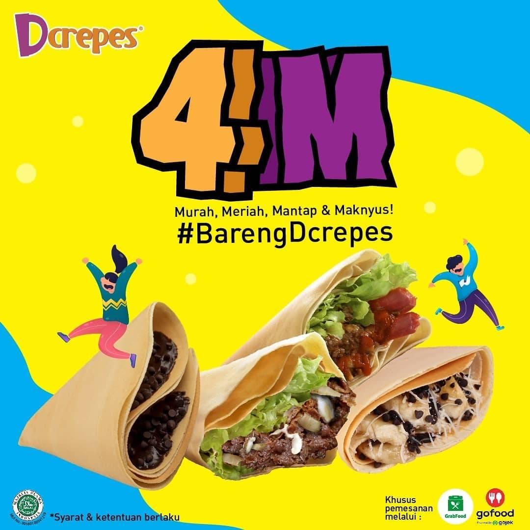 Diskon DCrepes Promo 4 M