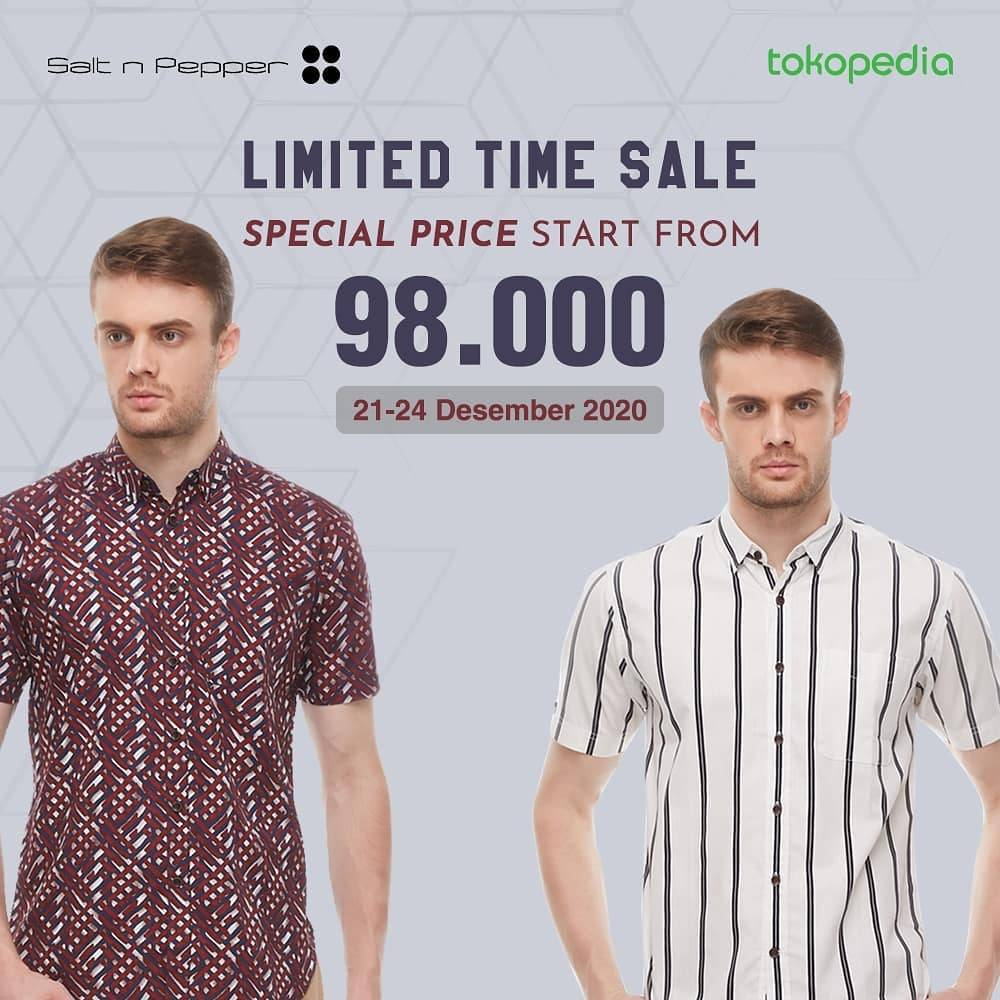 Diskon Salt & Pepper Limited Time Sale Harga Spesial Rp. 98.000 Di Tokopedia
