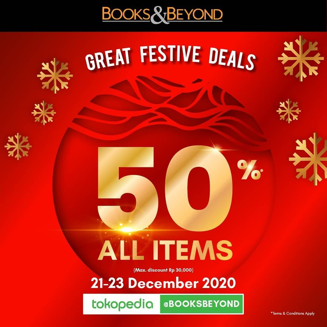 Diskon Books & Beyond Promo Discount 50% Off On All Items