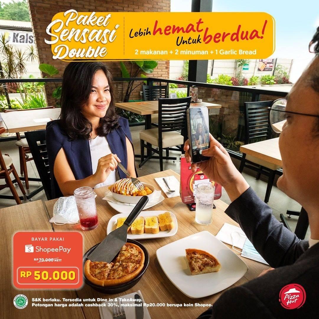 Diskon Pizza Hut Cashback 30% Shopeepay Untuk Paket Sensasi Double