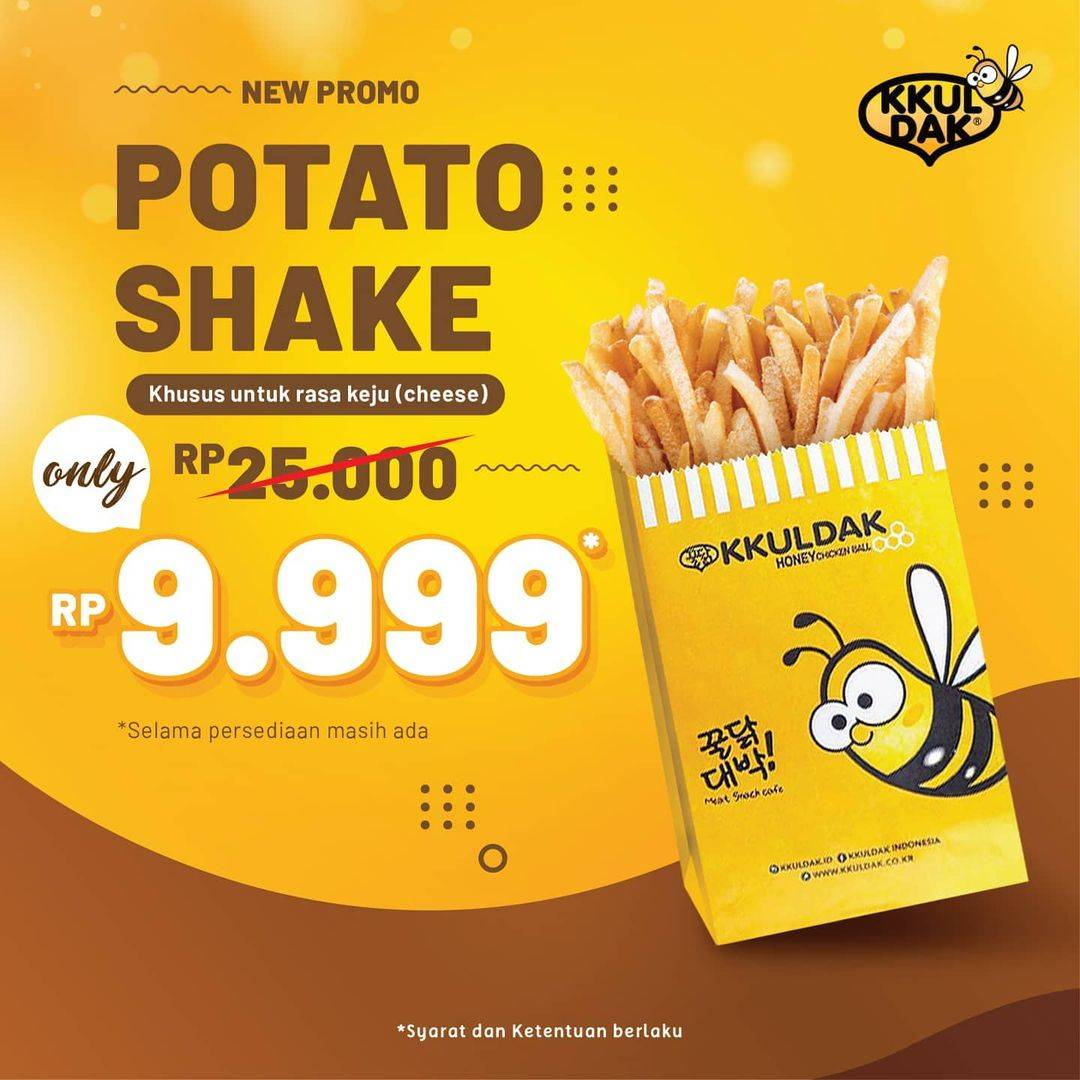 Diskon Kkuldak Promo Potato Shake Only For Rp. 9.999