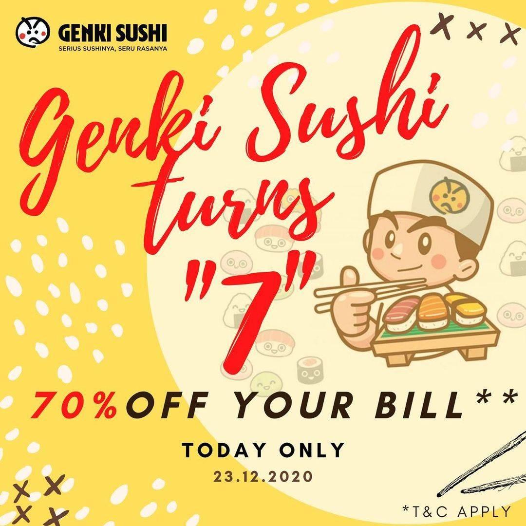Diskon Genki Sushi Promo Genki Turns 7 Discount 70% Off