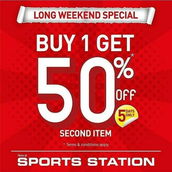 Diskon Sport Station Discount 50% Off On Second Item