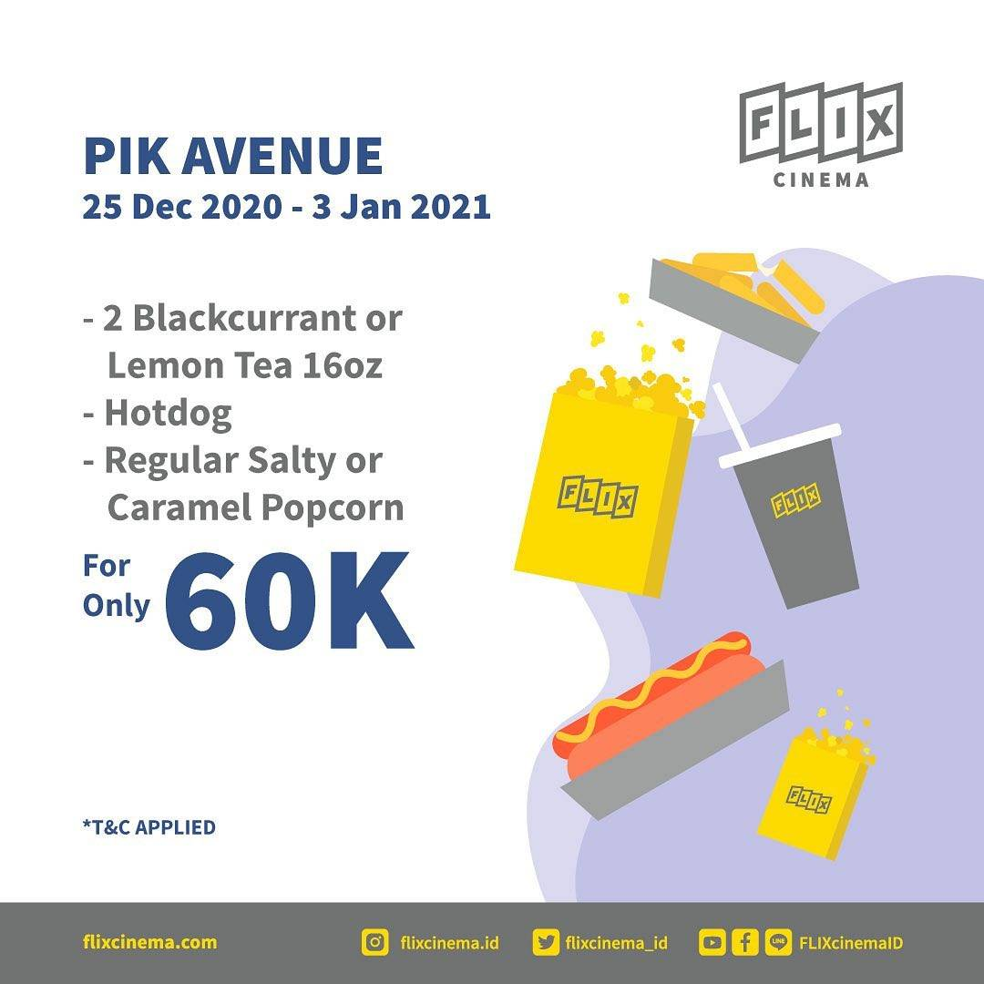Promo diskon Flix Cinema Promo Food Package Start From Rp. 40.000