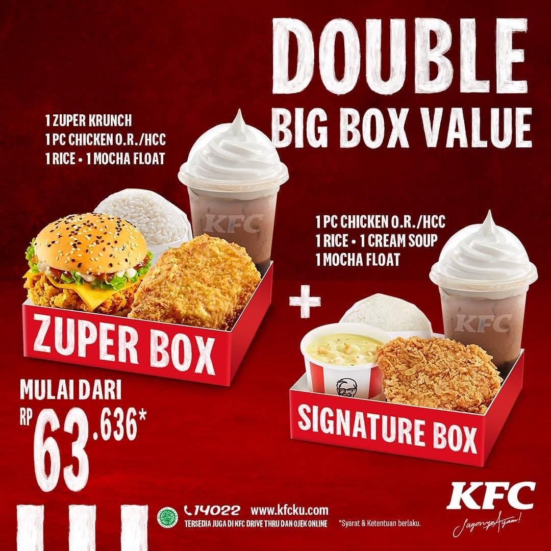 Diskon KFC Promo Double Big Box Value Mulai Dari Rp. 63.636