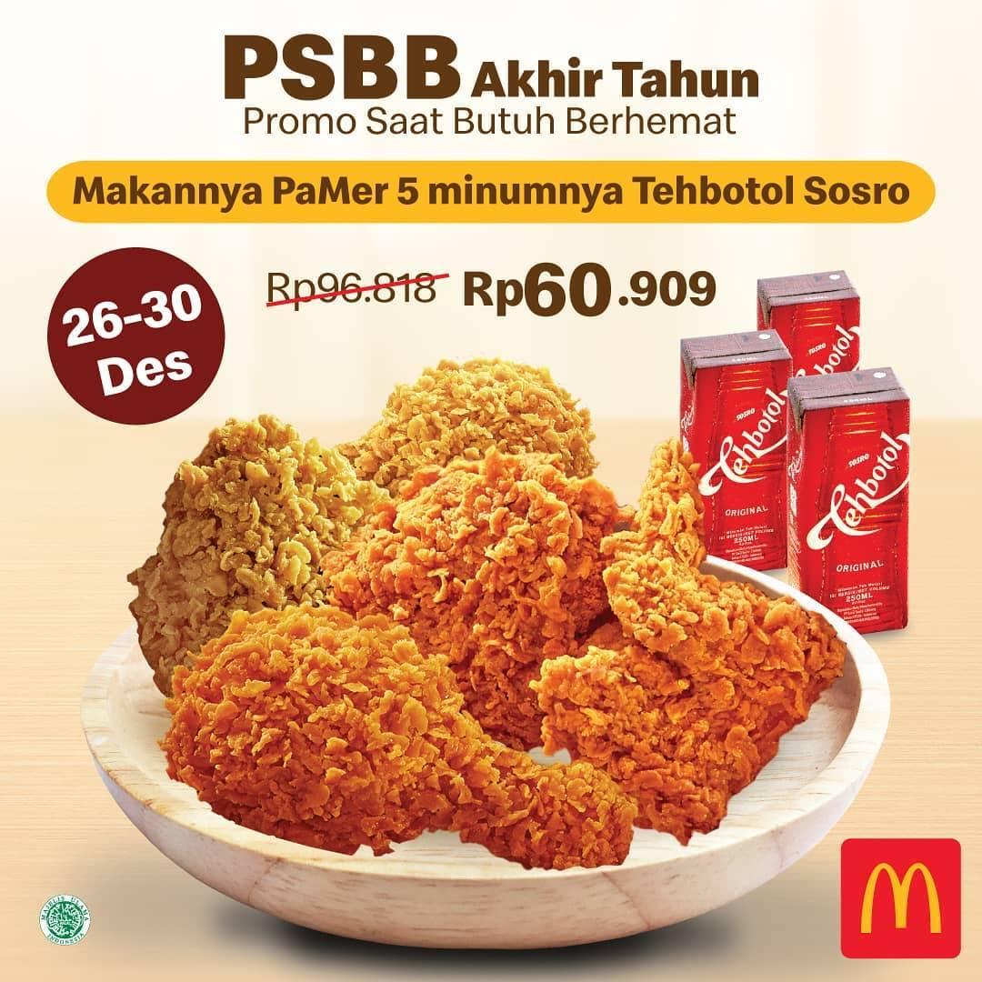 Diskon McDonalds Promo PSBB Akhir Tahun - PaMer Hanya Rp. 60.909