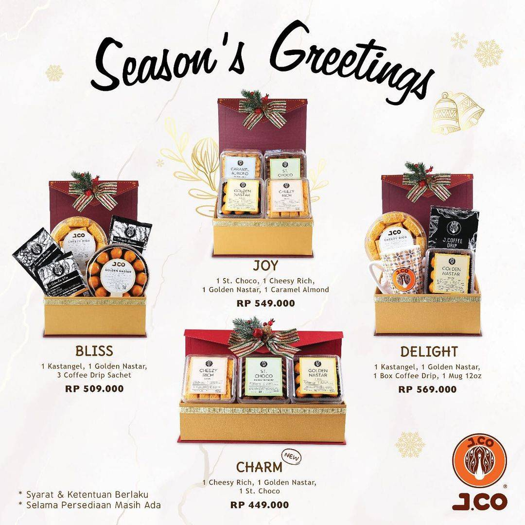 Diskon J.CO Promo Season's Greetings Dengan Harga Mulai Dari Rp. 449.000