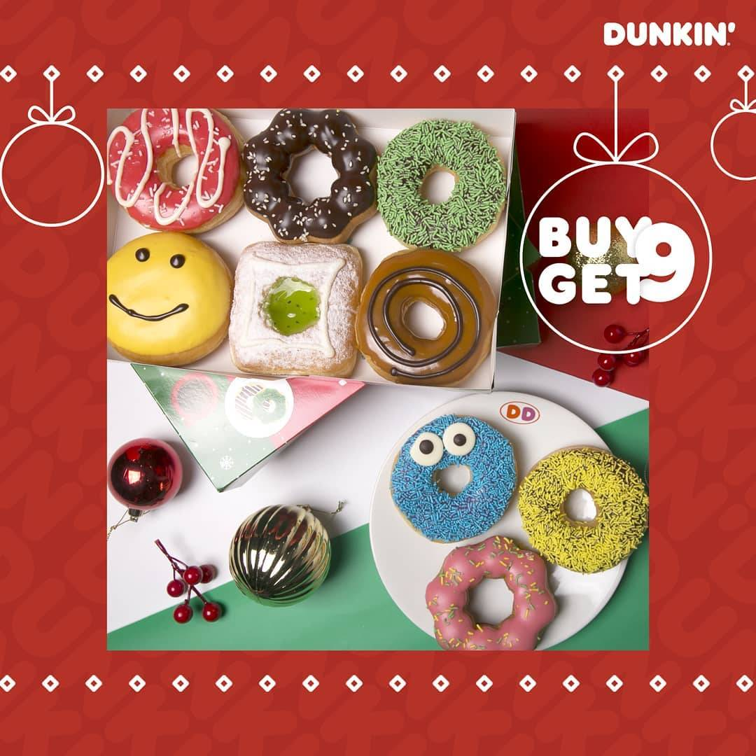 Diskon Dunkin Donuts Promo DD Card Payday Buy 9 Get 9 Free Donuts