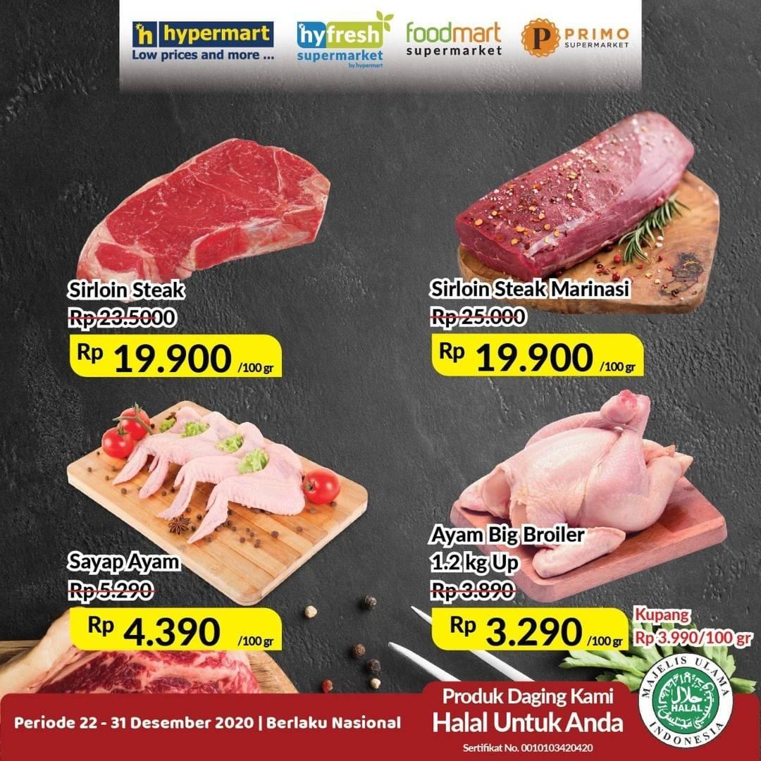 Diskon Hypermart Katalog Daging & Ikan 22 - 31 Desember 2020