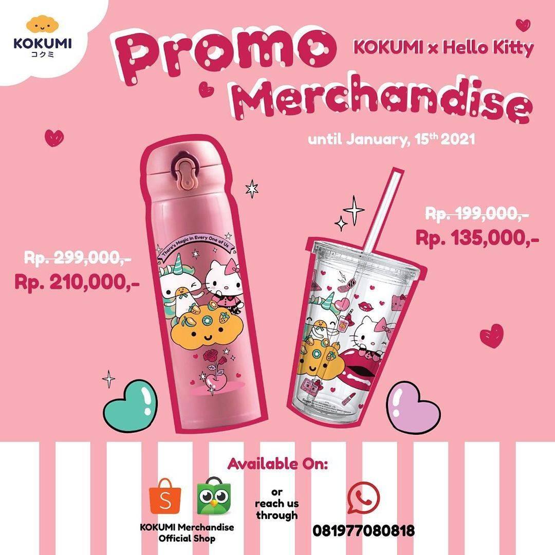 Diskon Kokumi Promo Merchandise Kokumi x Hello Kitty