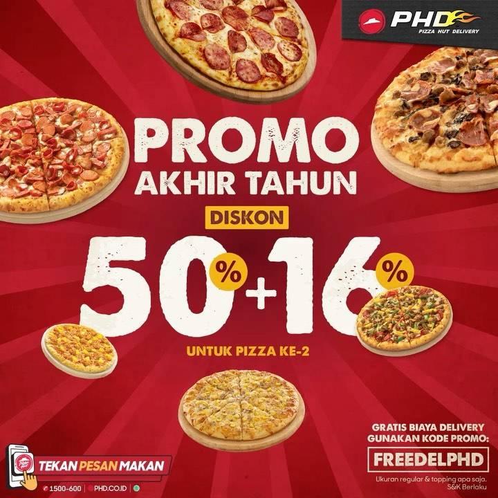 Diskon Pizza Hut Promo Akhir Tahun Diskon 50% + 16%
