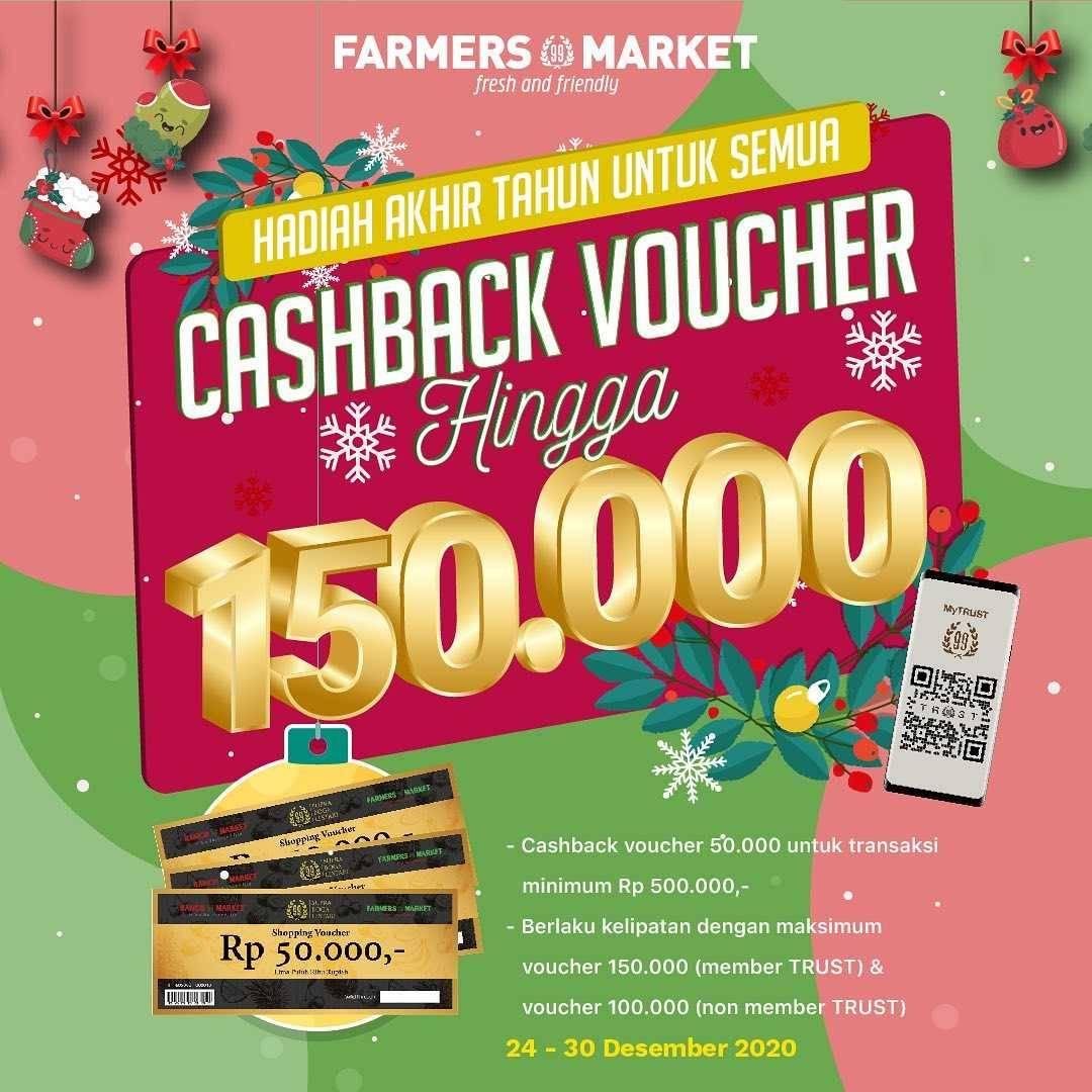 Diskon Farmers Market Cashback Voucher Hingga Rp. 150.000