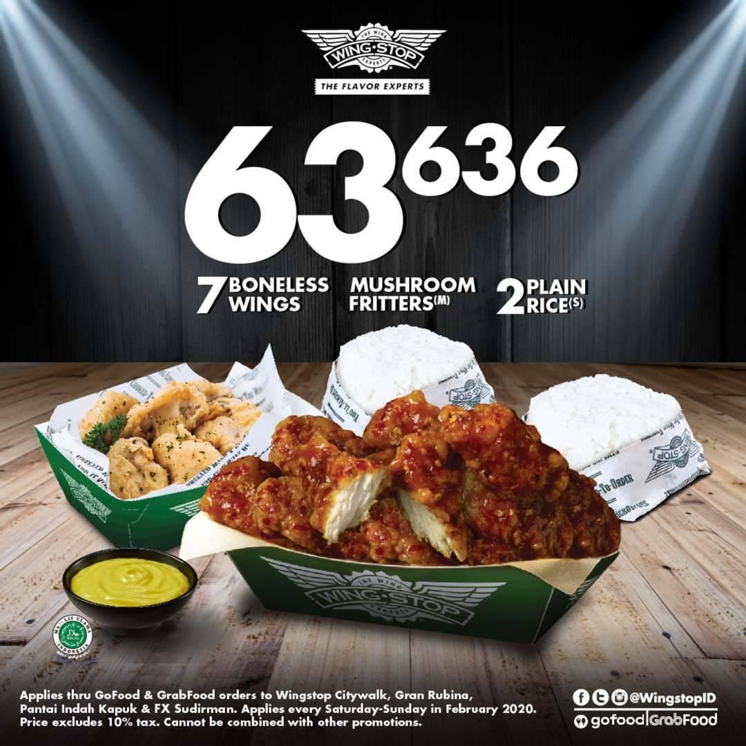 Wingstop Promo Harga Spesial Paket Pilihan Hanya Rp 63.636