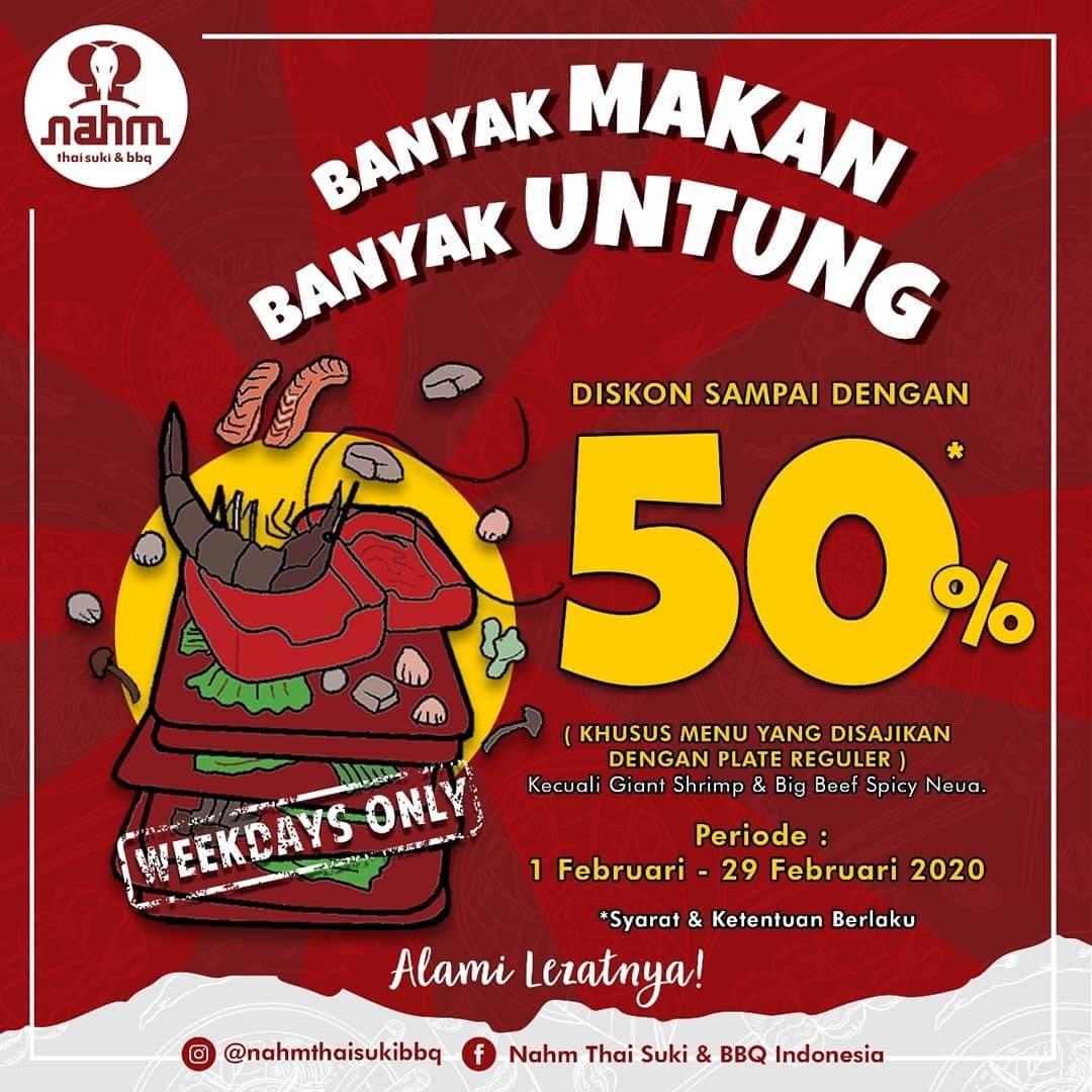 Nahm Thai Suki & BBQ Promo Diskon Hingga 50% Untuk Pembelian Menu Pilihan