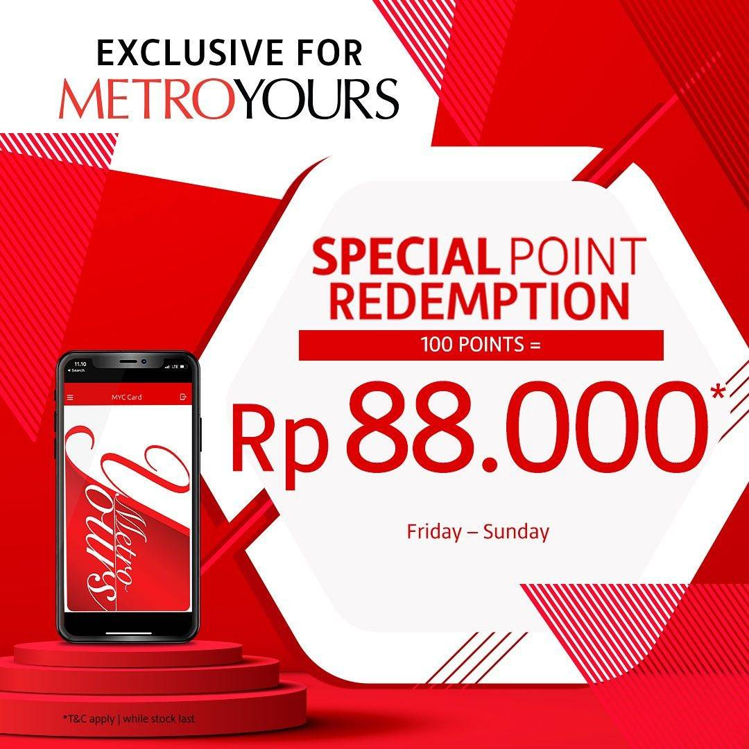 Metro Department Store Promo Special Point Redemption, Tukarkan 100 Points Dengan Voucher Senilai Rp