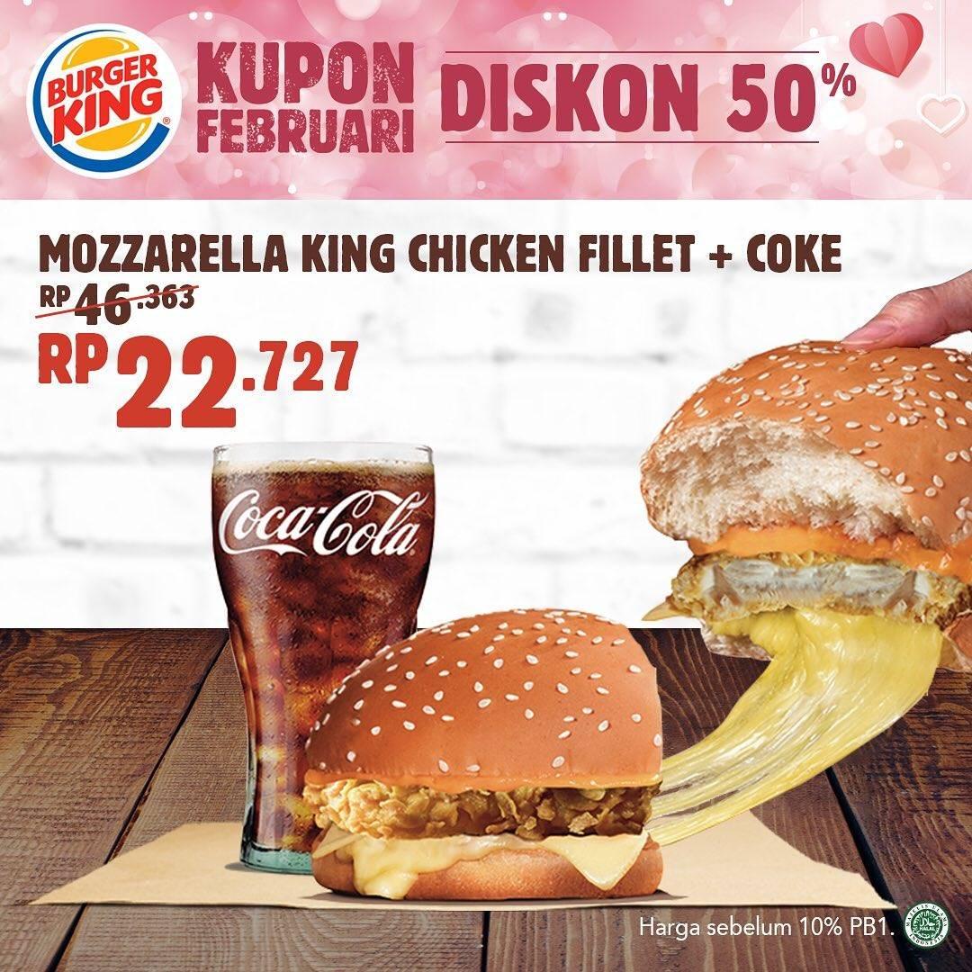 Burger King Promo Spesial Bulan Februari, Diskon 50% Untuk Paket Makanan Pilihan