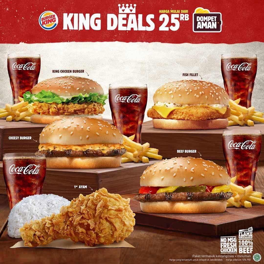 Burger King Promo King Deals Harga Spesial Mulai Dari 25ribu