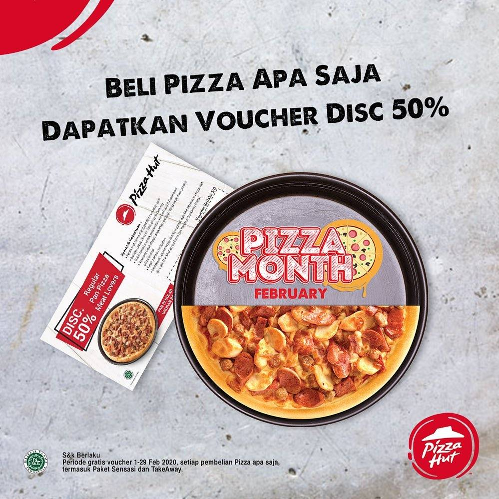 Pizza Hut Promo Gratis Voucher Diskon 50%