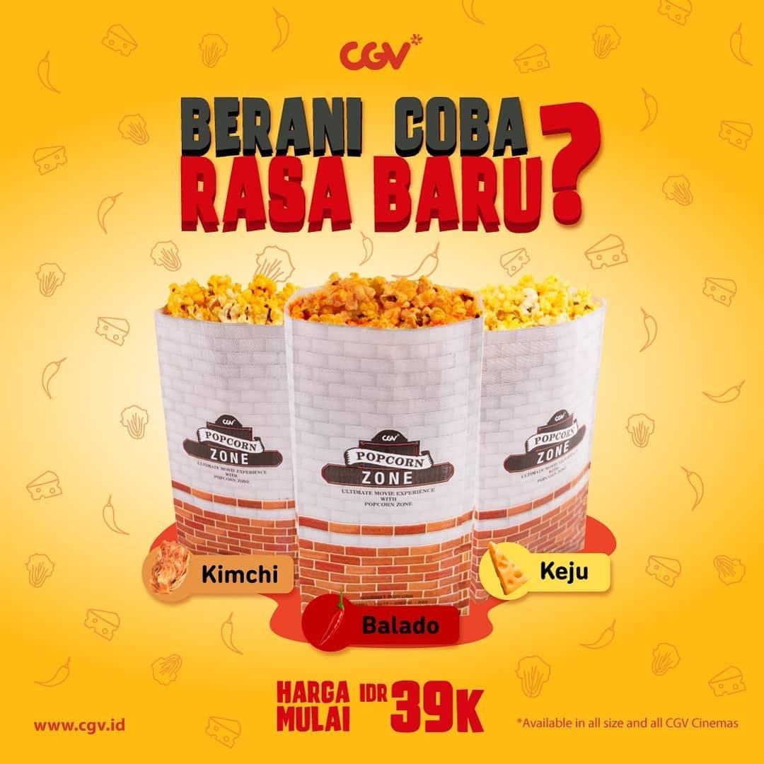 CGV Promo 3 Rasa Baru Popcorn Dengan Harga Spesial Mulai Dari Rp. 39.000