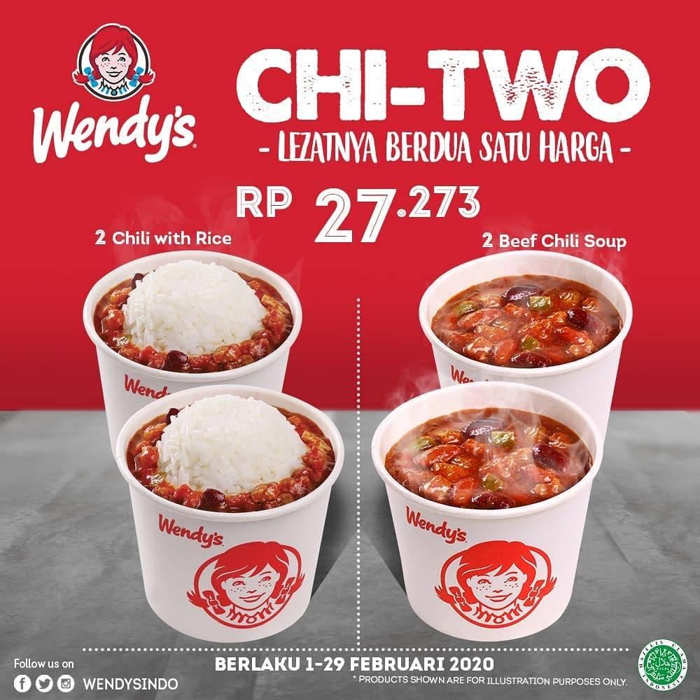 Wendy's Promo Chi Two Dengan Harga Rp. 27.273