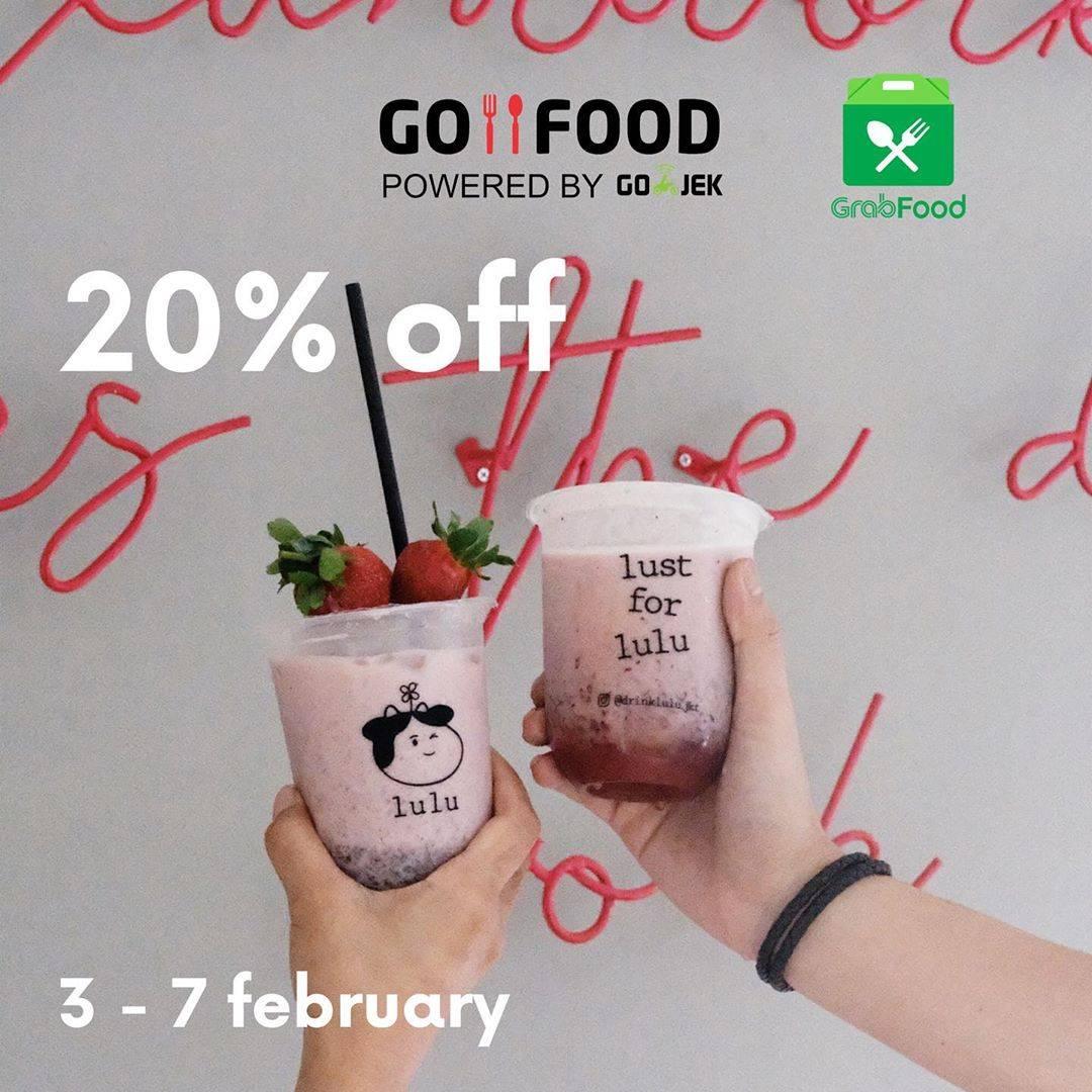 Lulu Promo Diskon 20% Untuk Yogurt Series Melalui Gofood Dan Grabfood