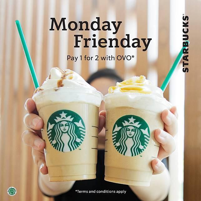 Starbucks Promo Pay 1 For 2 Menggunakan OVO