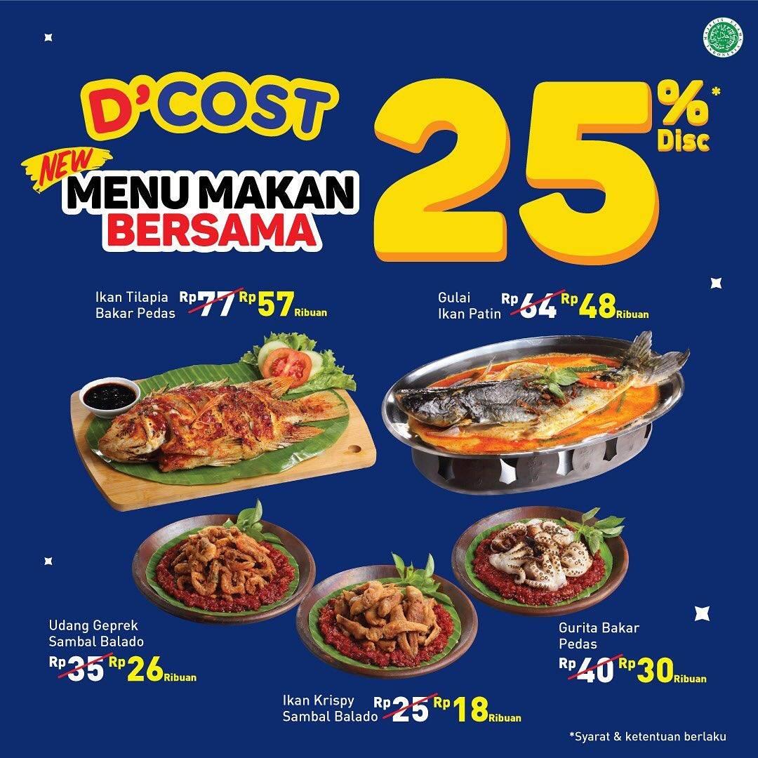 D'Cost Seafood Promo Diskon 25% Menu Makan Bersama