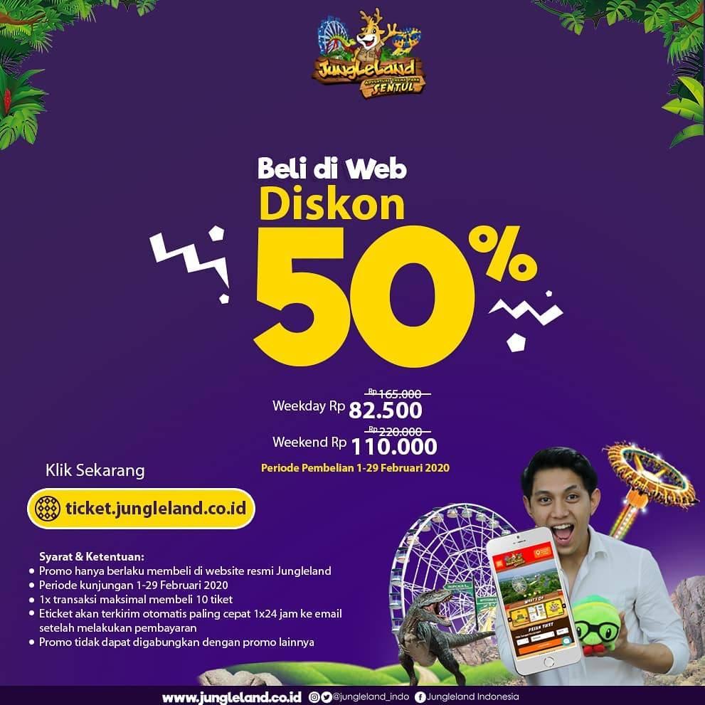 Diskon Jungleland Promo Harga Spesial Tiket Masuk Pembelian Via Web Resmi