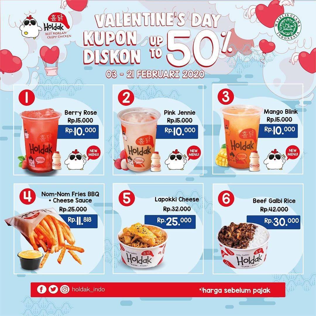 Holdak Promo Kupon Diskon Edisi Valentine's Day, Diskon Hingga 50%