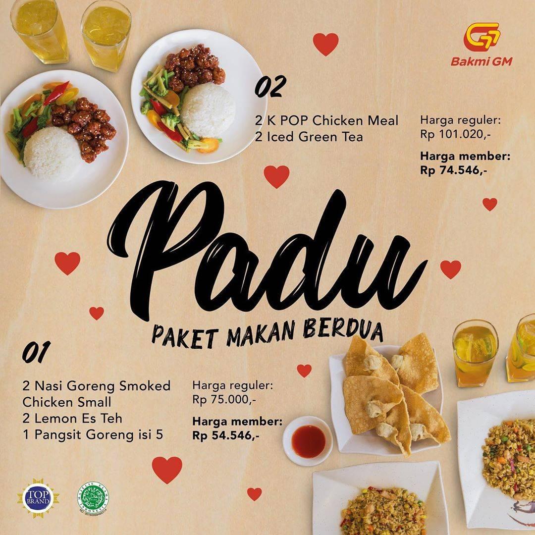 Bakmi GM Promo Harga Spesial Paket Makan Berdua Hanya Rp. 54.546