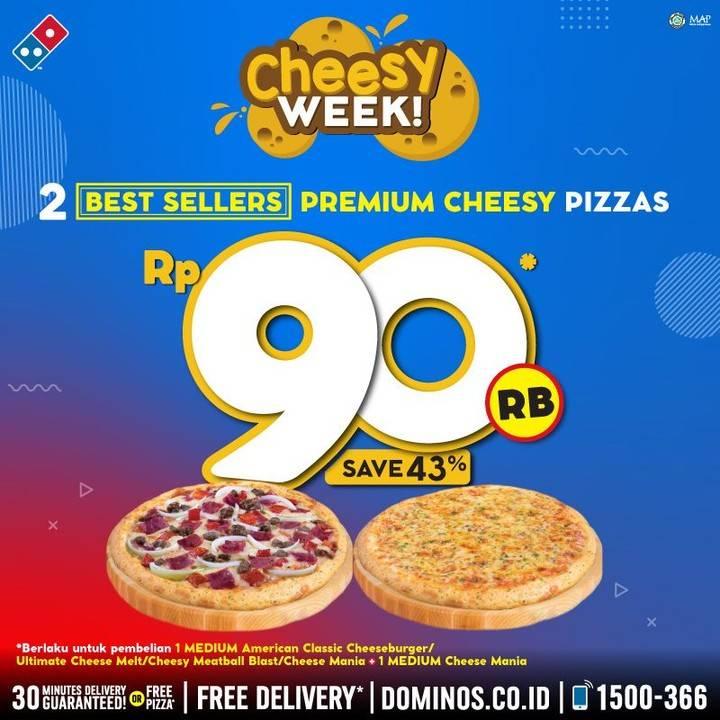 Domino's Pizza Promo Harga Spesial 2 Best Sellers Pizza Pilihan Hanya Rp. 90ribu