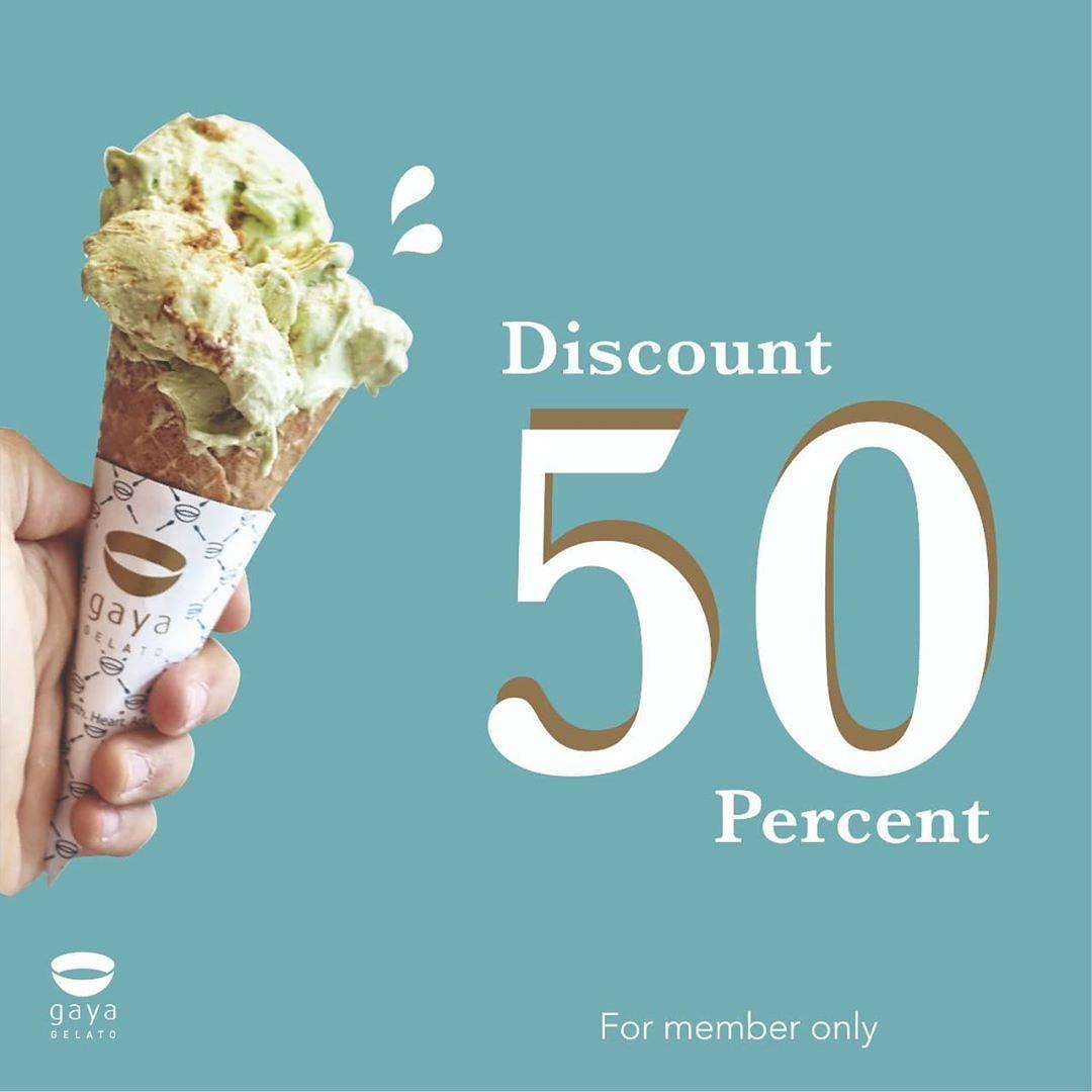 Gaya Gelato Promo Diskon 50% Khusus Untuk Member
