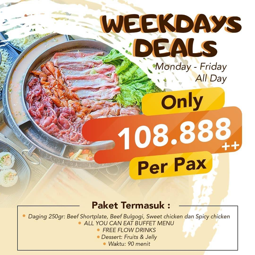 Ssikkek Promo Weekdays Deals All You Can Eat Only 108.888++ Per Pax