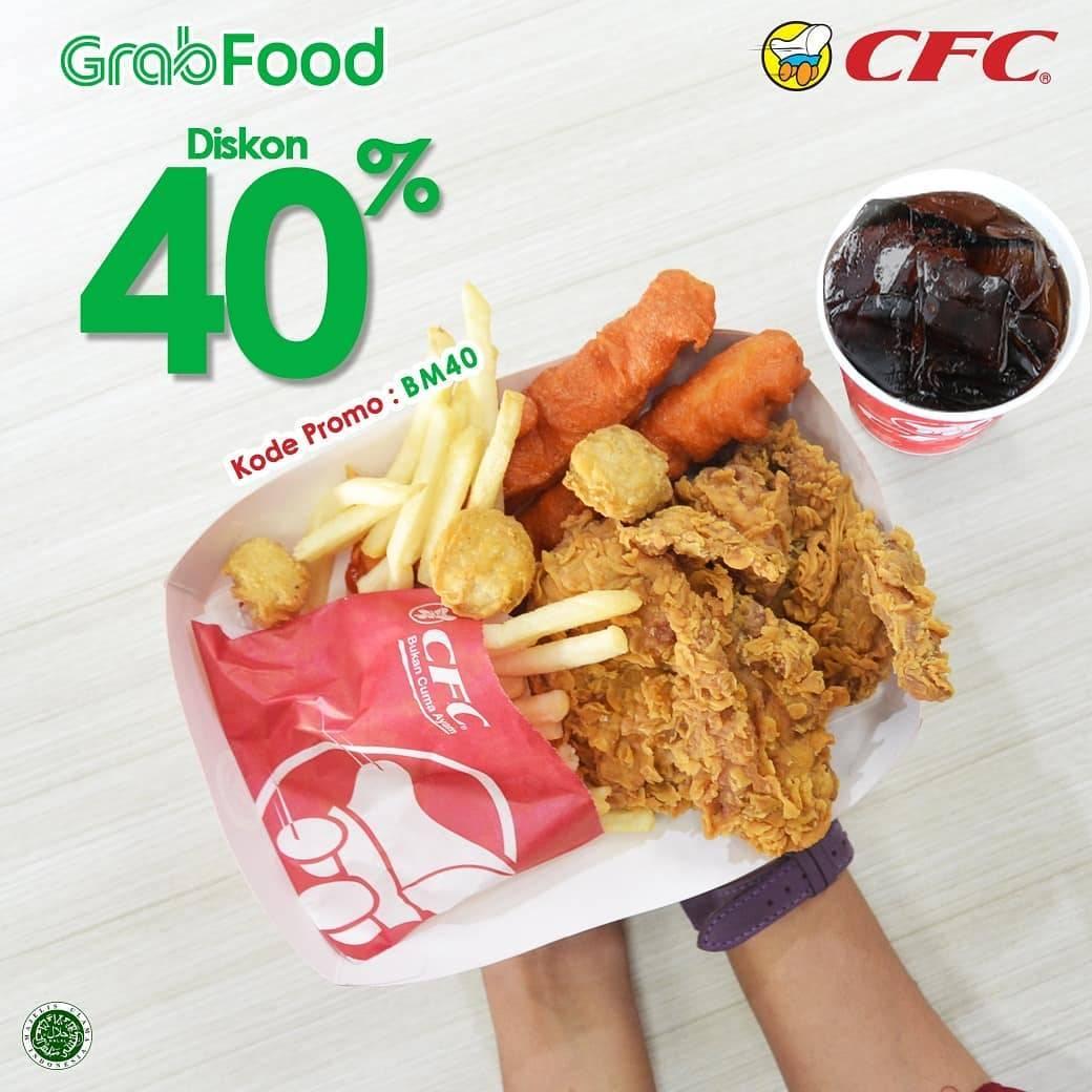 CFC Promo Diskon Hingga 40% Dengan Menggunakan Kode Promo Grabfood BM40