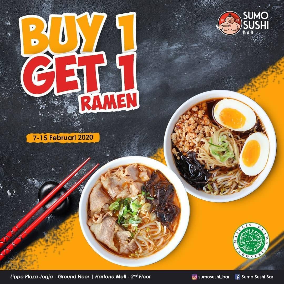 Sumo Sushi Bar Promo Bulan Kasih Sayang,  Buy 1 Get 1 Ramen