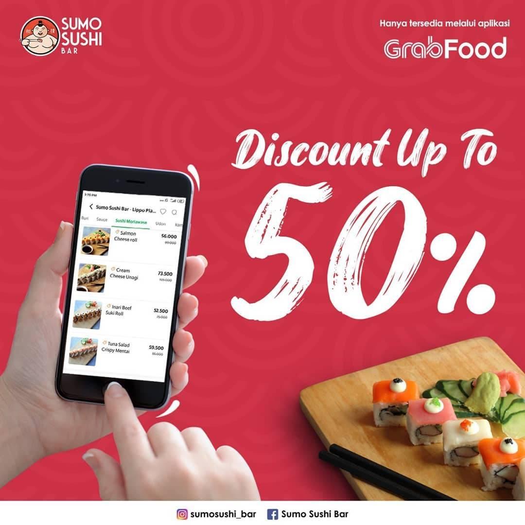 Sumo Sushi Bar Promo Diskon 50% Pembelian Via Grabfood